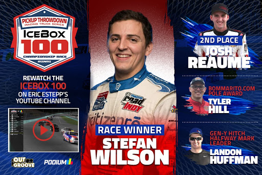 IceBox Pickup Throwdown iRacing eSports Truck Series IceBox 100 Homestead-Miami Winner Stefan Wilson
